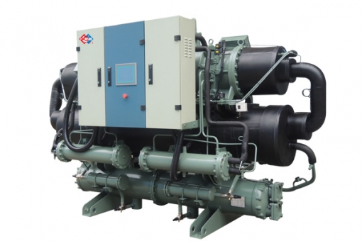 air-cooled screw type unit chiller suhu rendah
